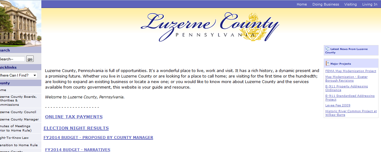 luzerne county website
