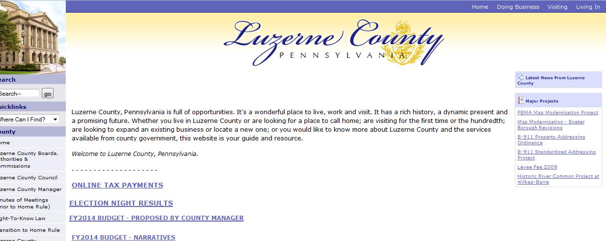 luzerne county website