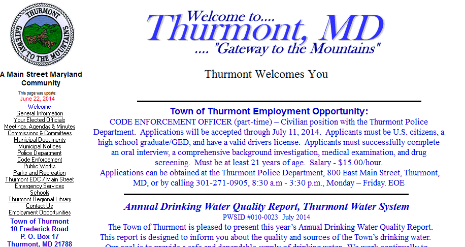thurmont website