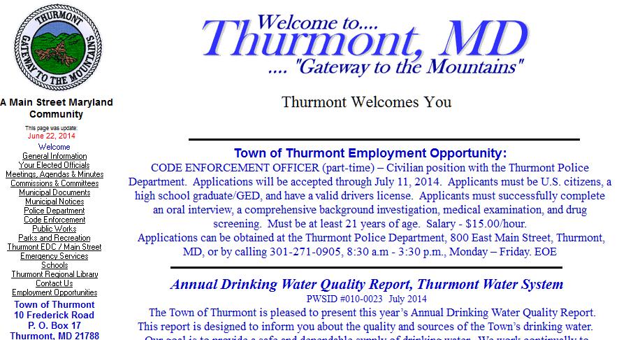 thurmont website