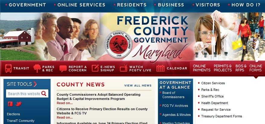 frederick county website